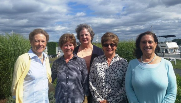 Essex Garden Club 2015-2016 Officers: Betsy Godsman, Patricia Mather, Linda Newberg, Judy Greene, and Barbara Burgess