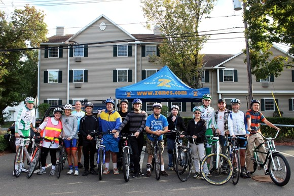 Vista students and members were joined by members of the community and Vista staff on Monday, Oct. 5th, for a group bike ride. From left are: Gerard O'Shea, Elayna Paradiso, Sheridan Bauman, Charlie Steinberg, Dan Coca-Ducach, Chris Bailey, Scott Taylor, Ben Bodman, Kip Lyons, James Pittenger, Linda Rogen, John Morgan, Tom Naughton, Paul Rogen and Ellis Mayo.