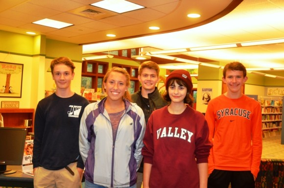 National Honor Society students from Valley Regional High School help with the sale
