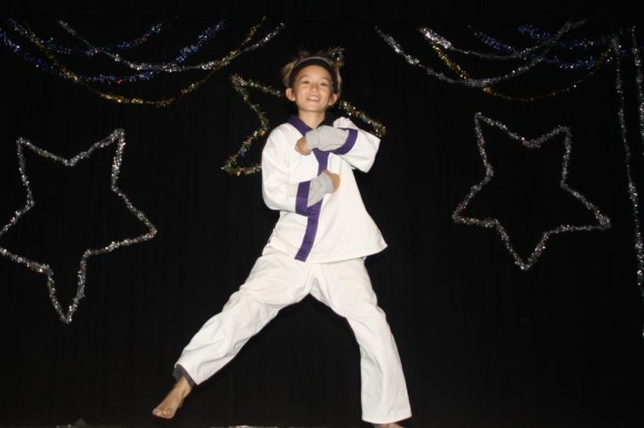 4th grader Owen Peterson has excellent martial arts moves