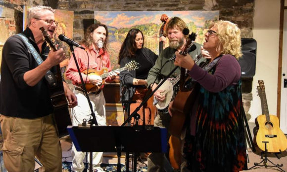 The 'Arrowsmith String Band' plays the next 'Concert in the Garden,' next Thursday, July 28.