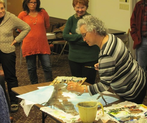 Bivenne will give a gallery talk and demonstration in watercolor at Maple and Main Gallery beginning at 11:30 a.m. on Sunday, Jan. 17.