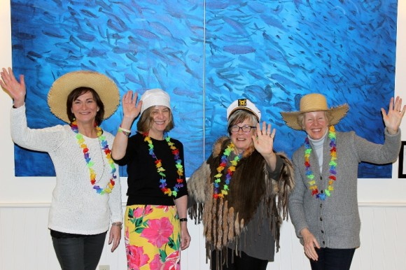 Members of Vista's Starlight Benefit Committee are gearing up for this year's Gilligan's Island-themed event on April 16. From left are Margie Butler, Jean Brookman, Heidi Teubert and Francoise Williams. Photo credit: Vanessa Pereira