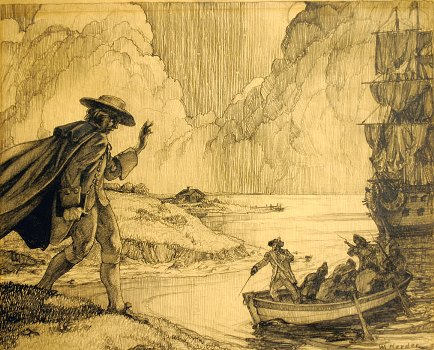 """Capture of Nathan Hale, Korder,"" 1940, courtesy of Rachel L. Smith"