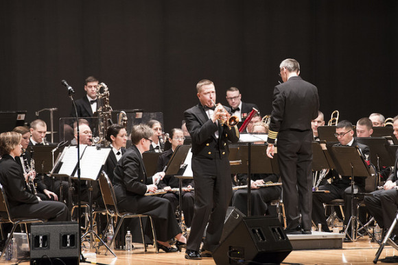 The US Navy Concert Band will give a free concert at the Coast Guard Academy on March 10.