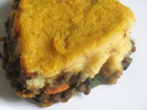 Curried vegetarian shepherd's pie