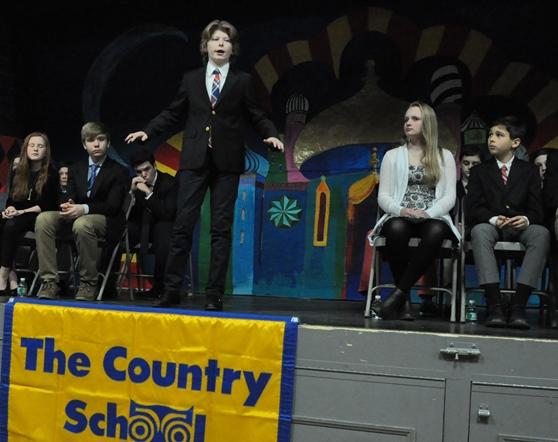 Phineas Scott recites his winning poem.