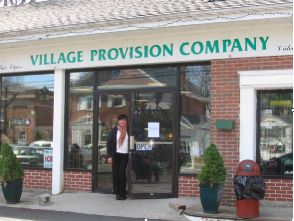 Village Provision co-proprietor, Claudia Odekerken, stands outside the store.
