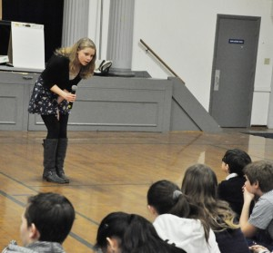 Tara Maloney speaks with Country School students