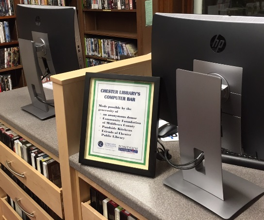 The Computer Bar at Chester Library.