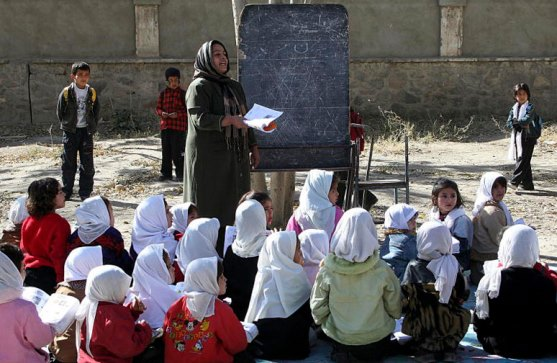 UNAMA School in Afghanistan