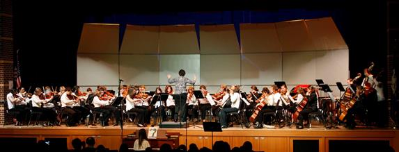 Community Music School's String Ensemble in concert