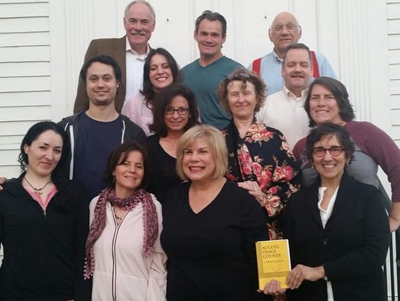 "The cast of ""August: Osage County"" at Chester Meeting House"