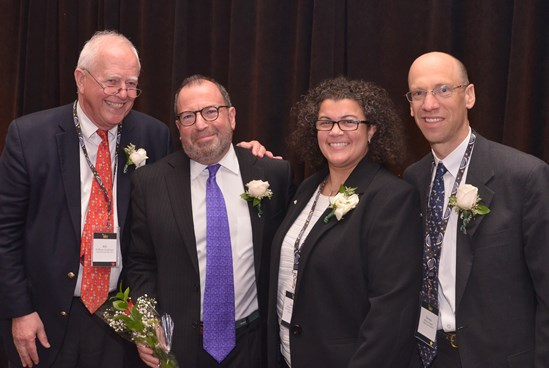 From left to right: CBA President, William H. Clendenen, Jr.; the Honorable Antonio C. Robaina, recipient of the Henry J. Naruk Judiciary Award; CBA Vice President, Karen DeMeola; and CBA President-elect, Monte E. Frank.