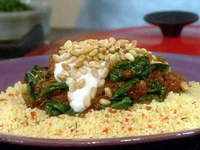 Braised Lamb with Spinach - Gourmet magazine