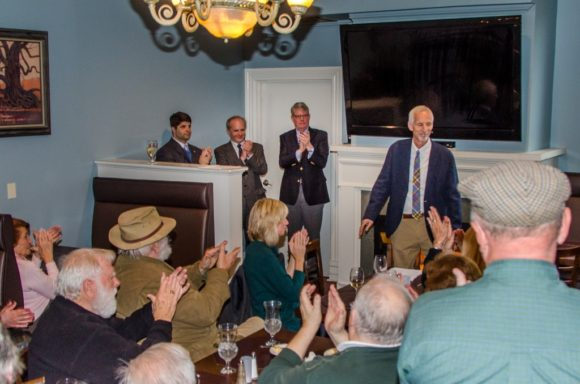 A large crowd of supporters attended the event at the Gelston House in East Haddam.