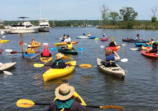 Bring your kayak or canoe to Main Street Park for an afternoon in Middle and South Coves.