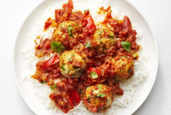 Turkey Meatball Vindaloo - Food Network magazine