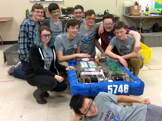 Valley robotics Relaxing after their second competition