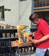 Dan Nichols paints a Chester scene