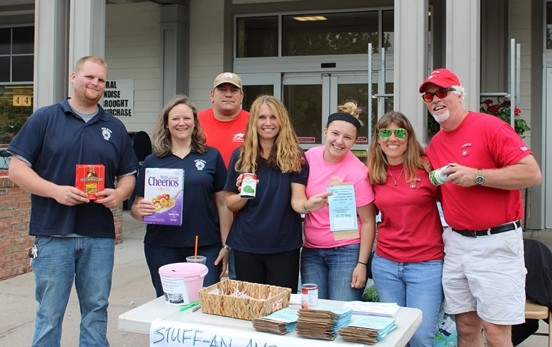 Volunteers from the Chester and Deep River Ambulance Companies at the June 11 food drive at the Deep River Adams Market. They were joined by Ambulance Companies from Essex, Madison and Clinton holding food drives at other locations.
