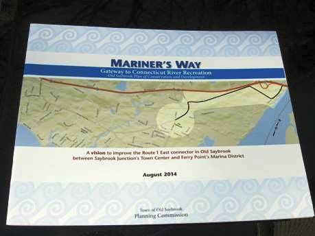 The Town's plan for redevelopment of Mariner's Way. Photo by J. Wilson.