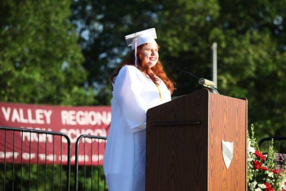 Valedictorian Christina Mitchel.