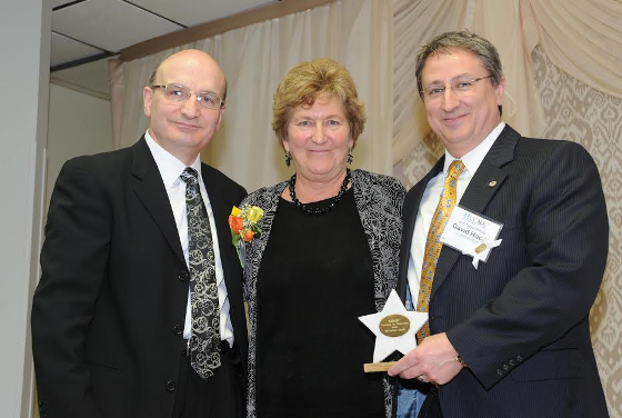 (L-R) Harry Sitilides, president of the board of directors for CCARC; Anne Ruwet, CEO CCARC, Inc., and David Hadd, senior vice president, director continuous improvement.