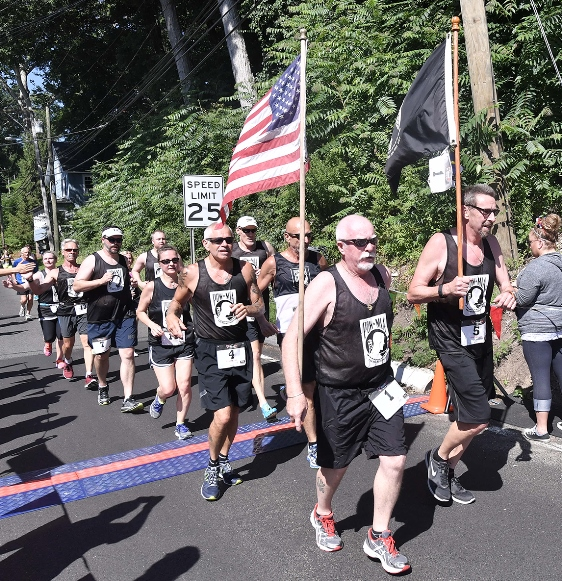 The POW/MIA veterans group comes every year to run in the Chester Road Race. (Al Malpa photo)
