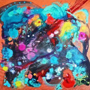 'Dreams Begin Responsibilities,' acrylic, by Gray Jacobik.