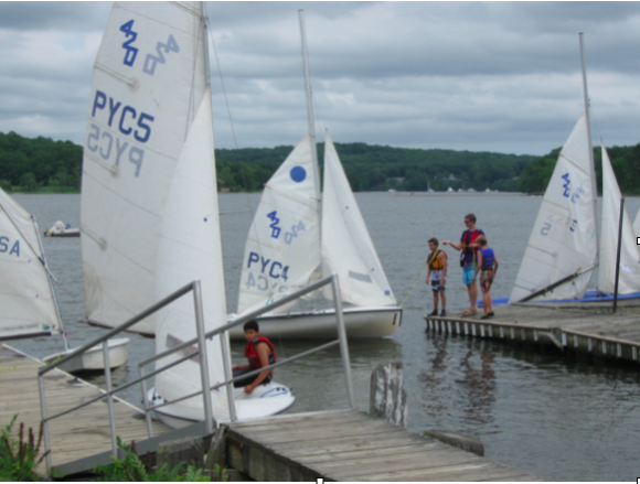 And then, the crews of three to a boat students climb on board,