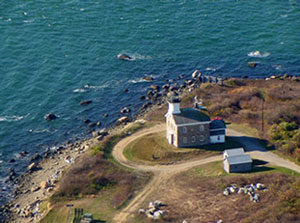 Aerial view of Plum Island.