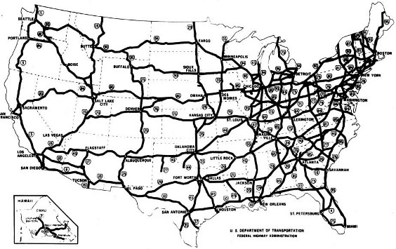 Dwight D. Eisenhower System of Interstate and Defense Highways, from Federal Highway Administration
