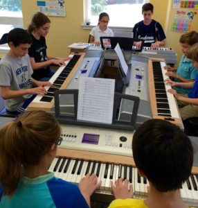 Community Music School Hosts a Beginning Group Piano class.