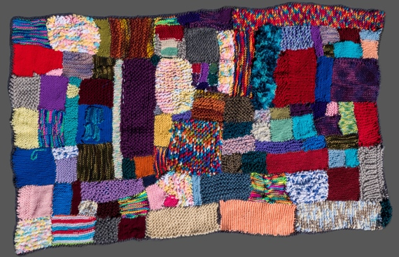 Knitted Squares Blanket by Chester Kid Knitters