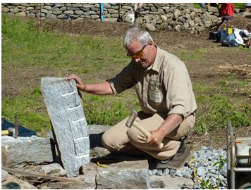 Andrew Pighill's work includes outdoor kitchens, wine cellars, fire-pits, fireplaces and garden features that include follies and other whimsical structures in stone.