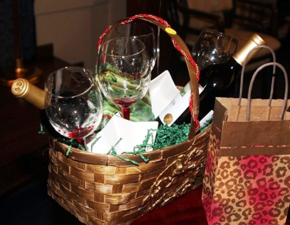 A wine basket like this one will be part of Saturday's Grand Raffle.
