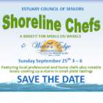 Estuary's 'Shoreline Chefs' Event at 'Water's Edge' Tomorrow Benefits 'Meals on Wheels'