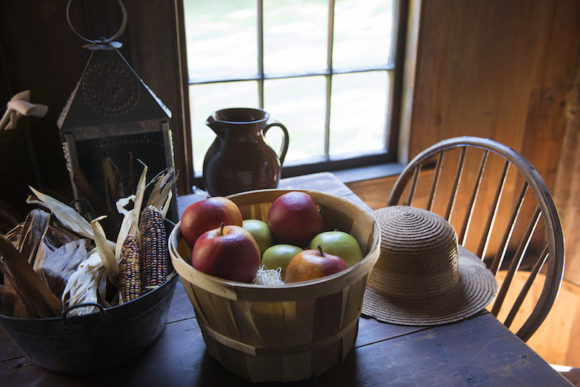 Bushnell Farm has an authentic 17th century house where visitors can catch a glimpse of busy seasonal life on Saturday, Nov. 5, from 11am-4pm at Harvest Home, a free, family event. Photo by Jody Dole