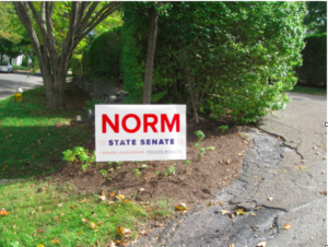 Norm Needleman lawn_sign