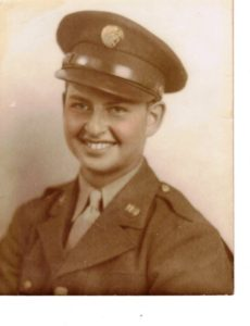 Dave Mann in his World War II uniform.