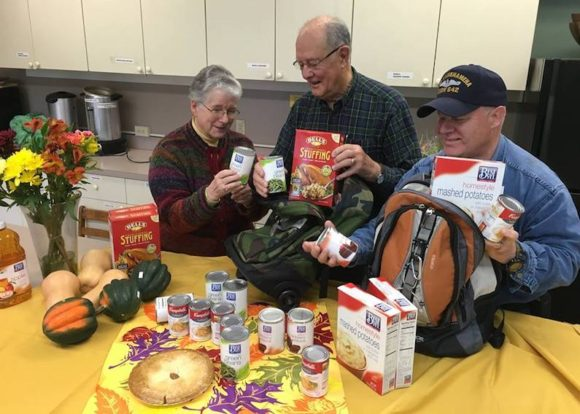 "Providing Thanksgiving meals for deserving families in the ""Backpack Program"" in Essex, Chester and Deep River is the focus of November 20's ""Sunday of Service"" at The First Congregational Church in Essex. Can you help to sponsor a family's meal?"