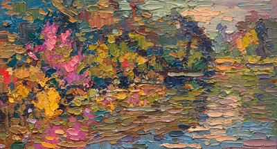 Selden's Wild Creek garden is one of Leif Nilsson's new paintings which will be on display tonight.